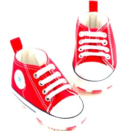 Star Canvas Red Converse Design Booties Aged 6 12 Months