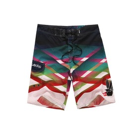 Mens Multi Colored Beach Short