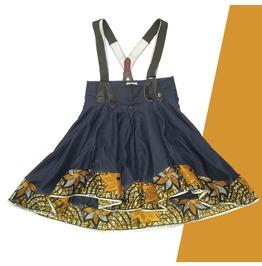 Fashion Mia Women's Army Braces Pinafore Skirt