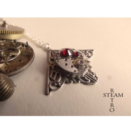 Mackintosh Art Deco Steampunk Siam Necklace Steampunk Jewellery Ste