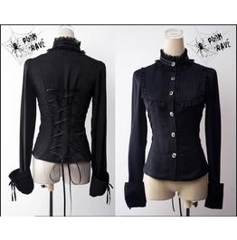 Gothic Victorian Lolita Black Blouse Punk Rave