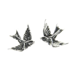Swallow Studs Alternative Earrings Alchemy Gothic