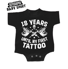 18 Years First Tattoo Baby Onesie