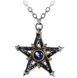 Medieval Pentacle Gothic Pendant Alchemy Gothic