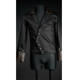 Mens Black Asymmetrical Modern Gothic Punk Jacket $9 To Ship Worldwide