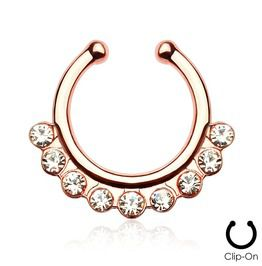 A+ 2Pcs 10mm Non Piercing Septum Piercing Spring Action Fake Body Jewelry Hoop Fashion Piercing Jewelry