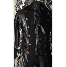 Faux Leather Multi Buttoned Pirate Jacket $9 To Ship Worldwide