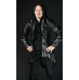 Mens Real Leather Black Pirate Jacket $9 To Ship Worldwide