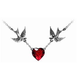 Swallow Heart Alternative Necklace Alchemy Gothic