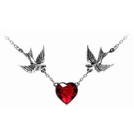 Swallow Heart Alternative Necklace Alchemy Gothic