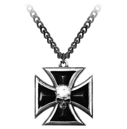 Black Knight's Cross Heavy Metal Necklace Alchemy Gothic