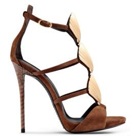 Stylish Gold Shell Shape Decor Thin High Heel Sandals