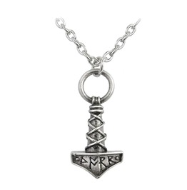 Thor's Hammer Amulet Alternative Necklace Alchemy Gothic