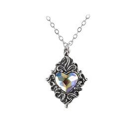 Crystal Heart Gothic Pendant Alchemy Gothic