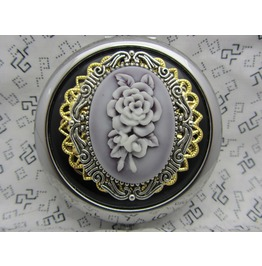 Compact Mirror Beauteous Comes Protective Pouch