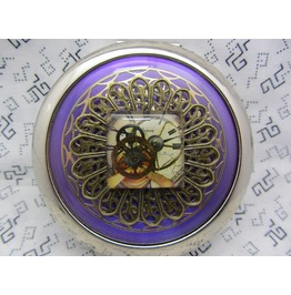 Compact Mirror Steampunk Image Watch Movement