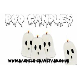 Boo Candles Set 4