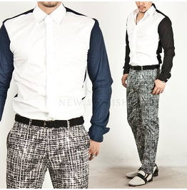 Neat Luxurious Contrast Slim Shirts 93