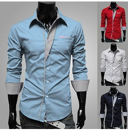 Long Sleeve Shirt Light Blue Shirt Dress Shirts Men Designer Mens S M L Xl 2 Xl