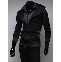 Mens Black // Red Hoody Jacket Hood Hoodies Fashion Men Shirt M L Xl 2 Xl