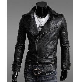 Black Rock Leather Jacket Men Winter