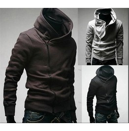 Men's Black // Brown // Light Grey Hoodies Hoody Winter Men