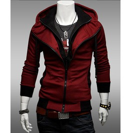 Men's Red / Grey / Black Hoodies Winter Mens Hood Sweatshirts