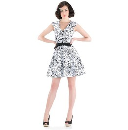 Voodoo Vixen Joanna Birdcage Retro Flare Dress