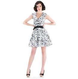 Voodoo Vixen Joanna Birdcage Retro Flare Dress