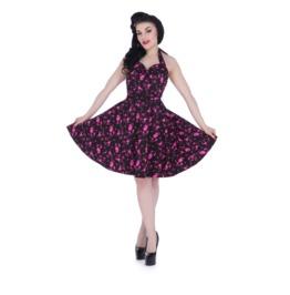 Voodoo Vixen Prescilla Pink Poodle Retro Halter Dress