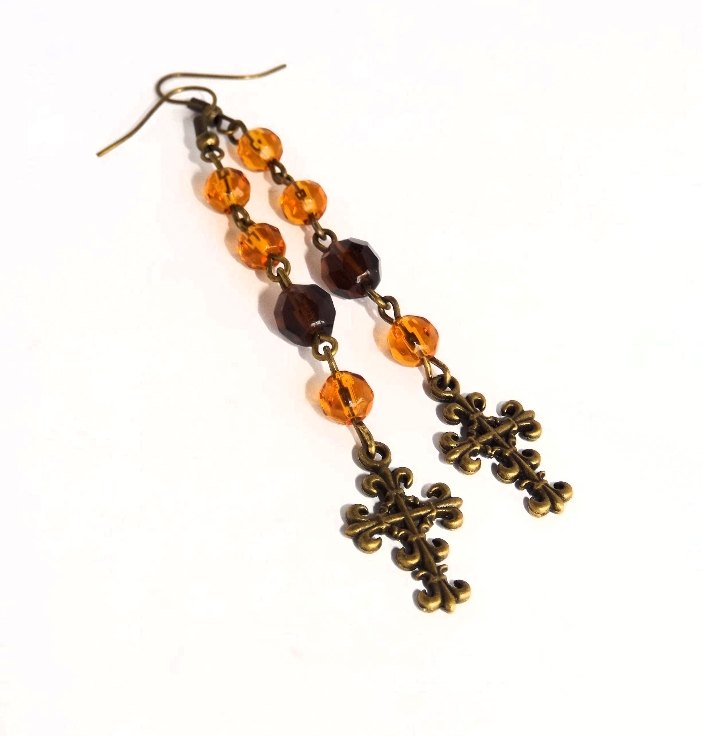 handmade_gothic_brown_rosary_earrings_earrings_3.jpg