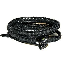 Don't Fear Reaper! Skull Head, Volcanic Bead Wrap Bracelet