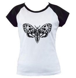Deaths head moth black cap sleeve t t shirts