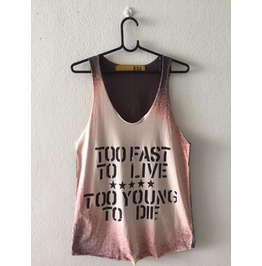 Fast Live Quote Vest Tank Top