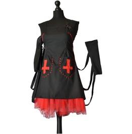 Creepy Gothic Lolita Bondage Dress Babymetal Manson Spooky Madame Legoth