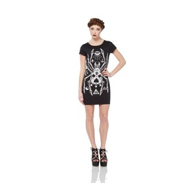 Jawbreaker Tarantuga Web Back Spider Skull Tee Dress