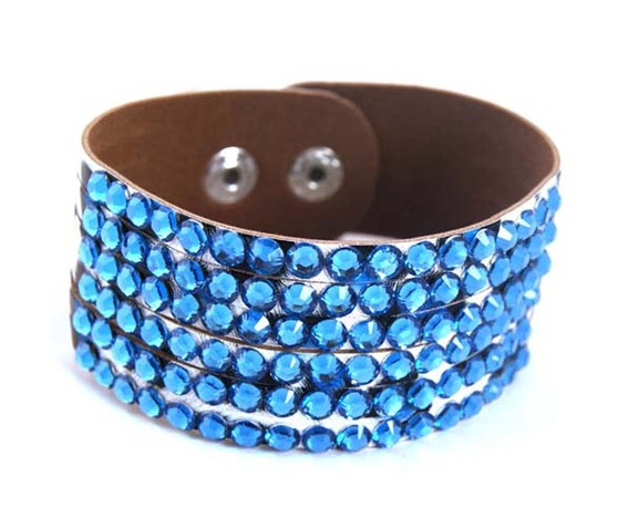 sparkle_leopard_leather_wristband_turquoise_blue_diamantes_wrist_and_sweatbands_3.JPG
