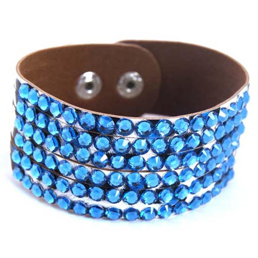 sparkle_leopard_leather_wristband_turquoise_blue_diamantes_wrist_and_sweatbands_3.JPG