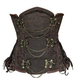 Vintage Steampunk Metal Clasp Closure Overbust Corset