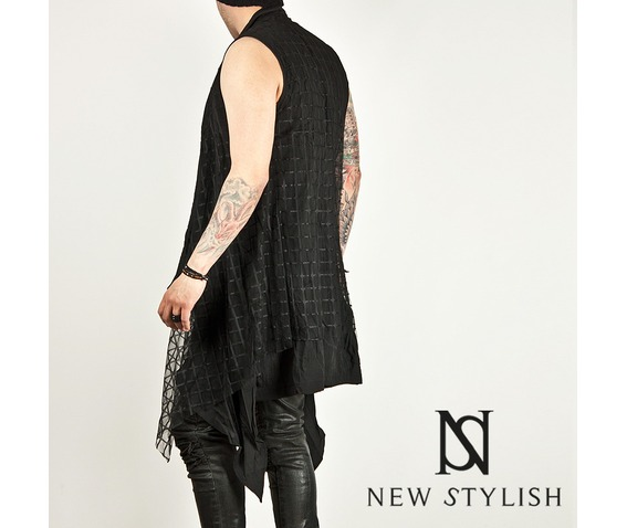 checkered_mesh_attached_draping_sleeveless_long_cardigan_47_cardigans_and_sweaters_4.jpg