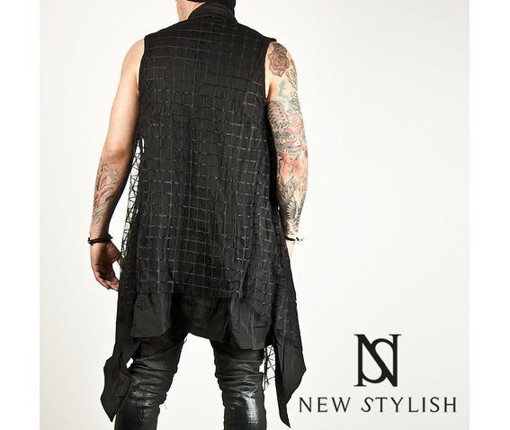 checkered_mesh_attached_draping_sleeveless_long_cardigan_47_cardigans_and_sweaters_3.jpg