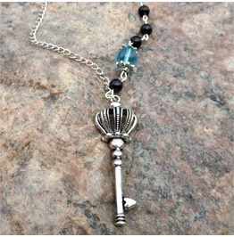 Handmade Gothic Antique Silver Key Necklace