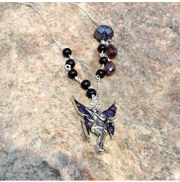 Handmade Gothic Purple Fairy Necklace