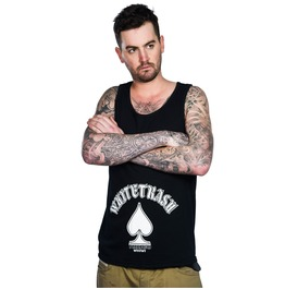 Toxico Clothing Mens Whitetrash Black Beater Vest