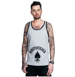 Toxico Clothing Mens Whitetrash Grey Beater Vest