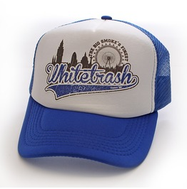 Toxico Clothing Unisex Whitetrash Blue White Trucker Hat