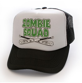 Toxico Clothing Unisex Zombie Squad Trucker Hat White And Black