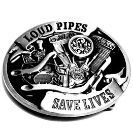 Motorcycle! Loud Pipes Save Lives Belt Buckle