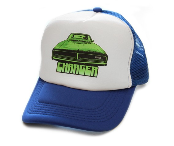 toxico_clothing_unisex_blue_charger_trucker_hat_hats_and_caps_2.jpg