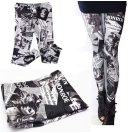 Women Lady Stylish Punk Sexy Stretchy Leggings Tight Pencil Skinny Pant